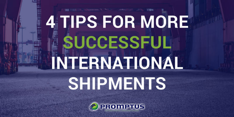 succesful international shipments