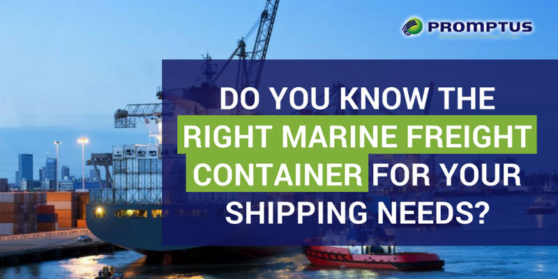 right marine freight container