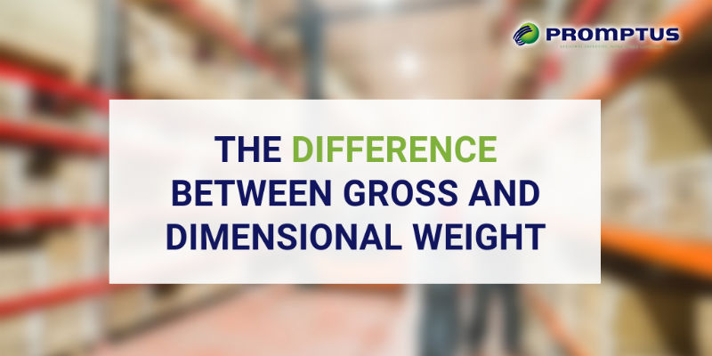 difference between gross and dimensional weight