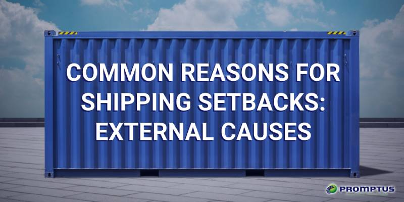 shipping delays external causes